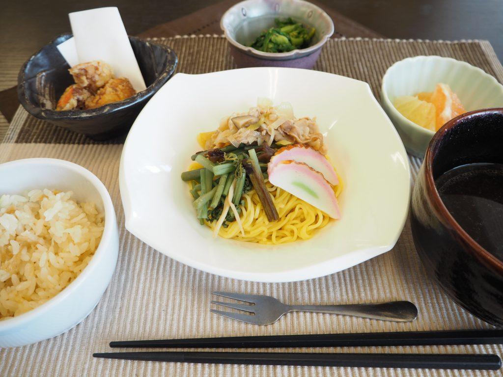 3月20日 昼食です。